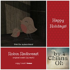 Robin Redbreast - gift for subscribers <3