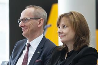 Mary Barra visits Opel