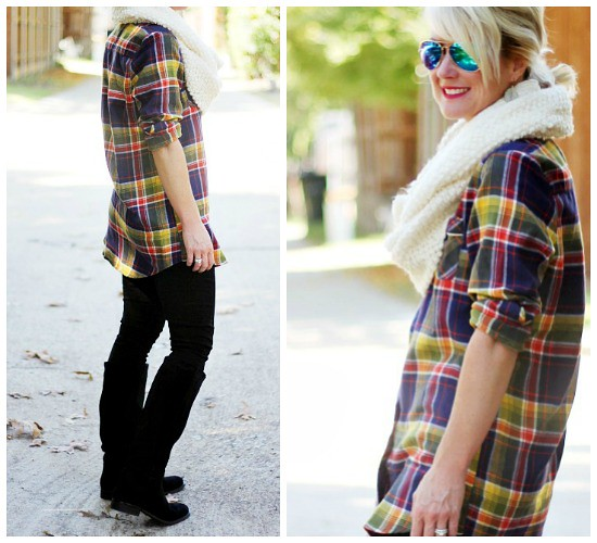 Hi Sugarplum | Plaid tunic + leggings