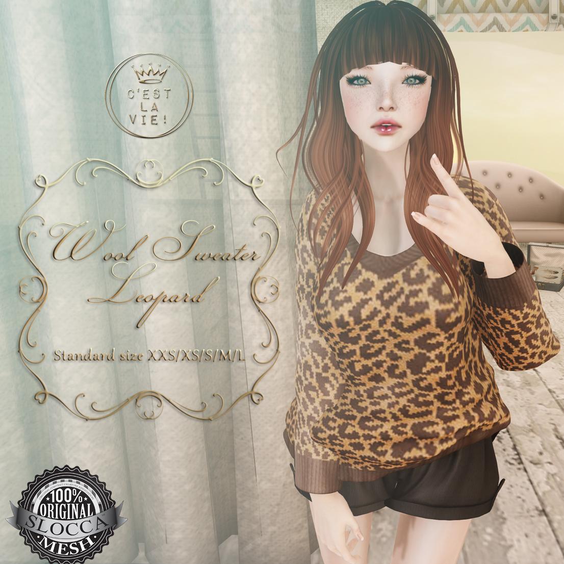 ::C'est la vie!:: Wool sweater leopard for Fifty Linden Fridays