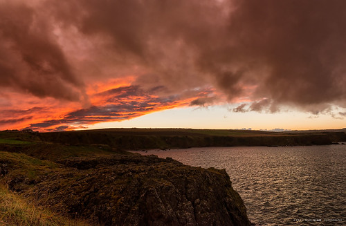 Sunset over Hairy Ness