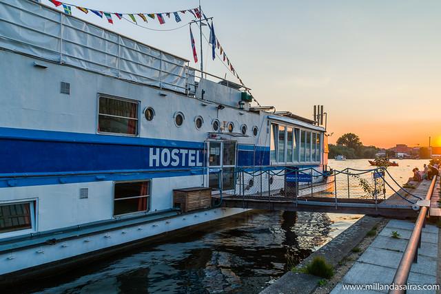 Hostelboat sobre el río Spree