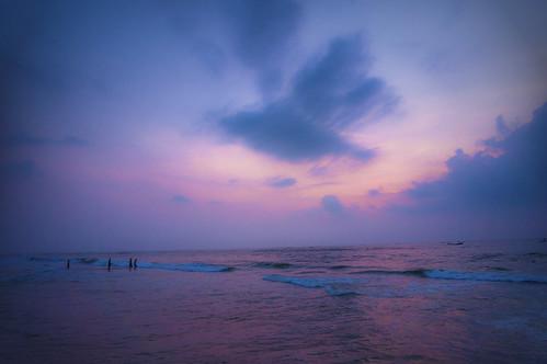 morning cloud india seascape beach weather sunrise blues chennai