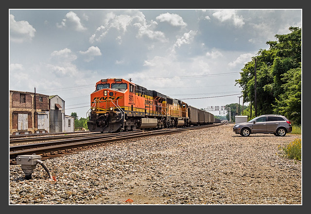 BNSF with coal train, Memphis/TN, May/28/2012