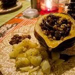 Acorn Squash Stuffed with Cranberry-Pecan Rice