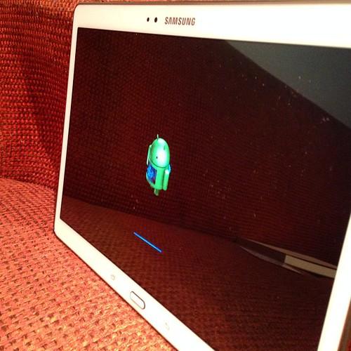 さらば。もうちょっと活用してあげればよかったかな。 #Galaxy Tab S #GALAXYアンバサダー