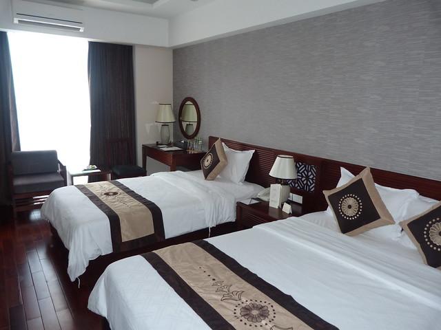 Habitación Deluxe con vistas al río del Moonlight Hotel de Hué (Vietnam)