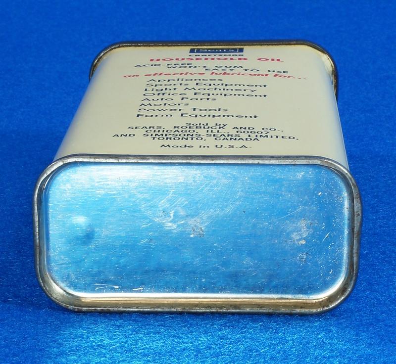 RD14508 Vintage SEARS Craftsman Household Oil 4oz Handy Oiler Can DSC06177