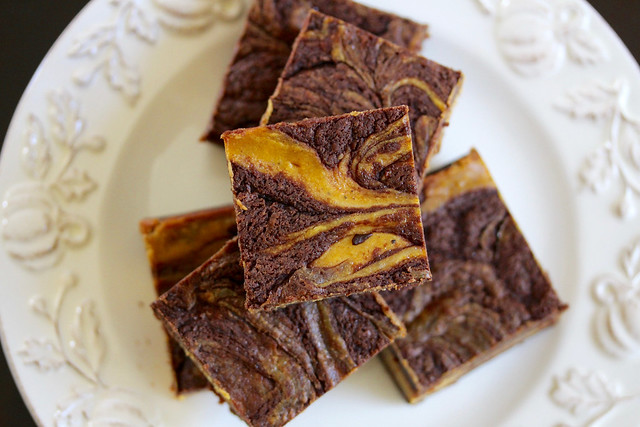 Pumpkin Swirl Cheesecake Brownies - 34