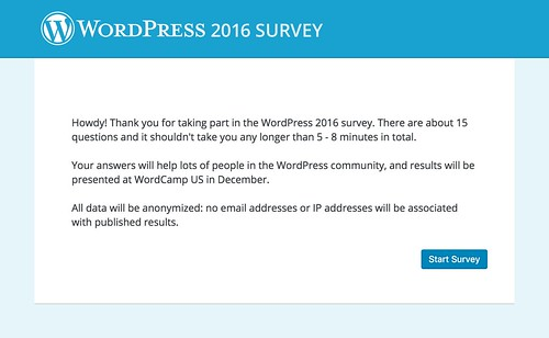WordPress 2016 Survey