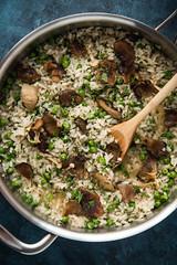 Bone Broth Risotto with Mushrooms & Crispy Sha…