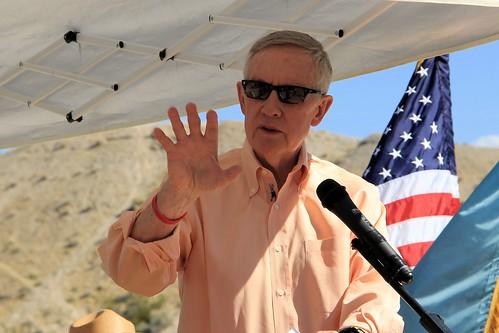 U.S. Senator Harry Reid was keynote speaker at Lake Mead's 50th Annversary Celebration on October 11th