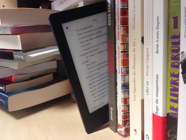 Lecteur ebook + livres papier
