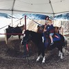 """Lincoln's favorite part of the pumpkin patch today- pony rides. He was very focused on giving Tucker the pony """"nice, gentle pats."""" ☺️ #vscocam #mrbonespumpkinpatch"""