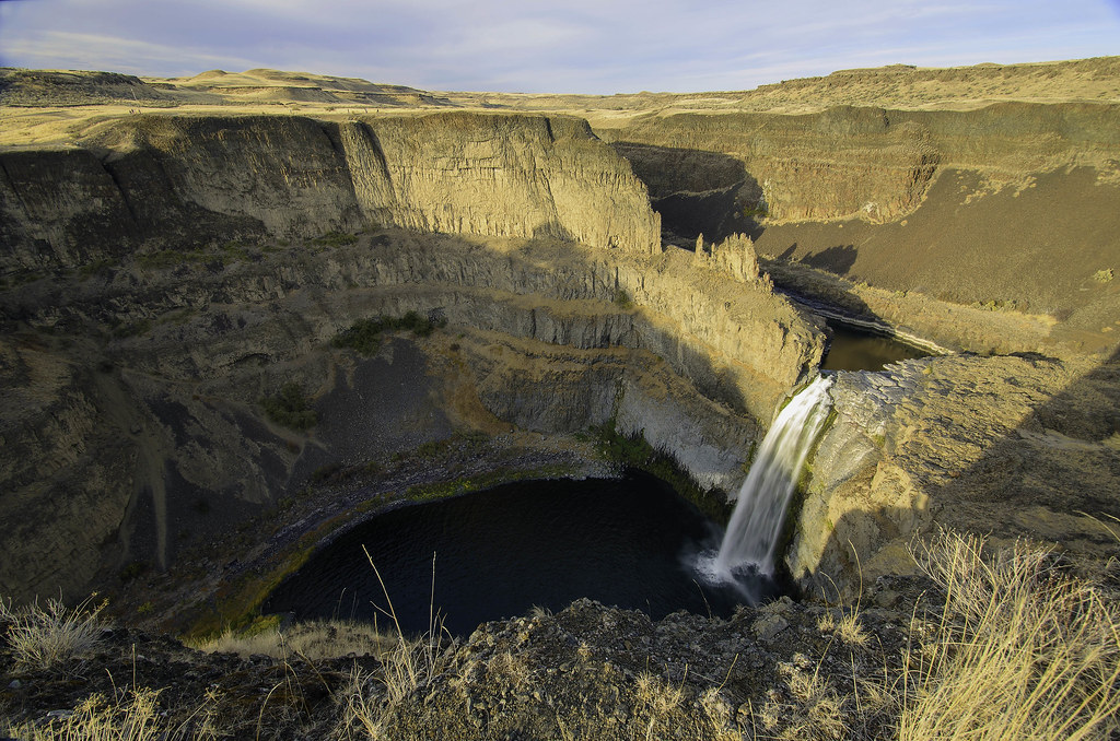 elevation of palouse falls  washington  usa - topographic map