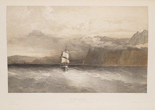 cliffs capes blacksea harbors sailingships crimeanwar squareriggers