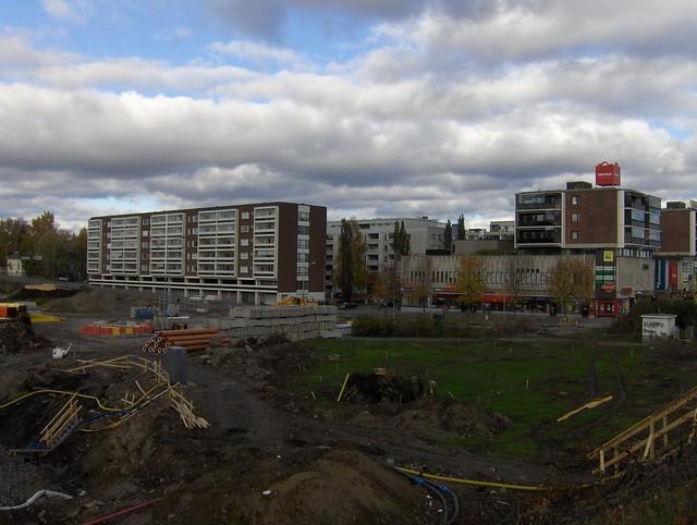 Hämeenlinnan moottoritiekate ja Goodman-kauppakeskus: Työmaatilanne 9.10.2011 - kuva 6