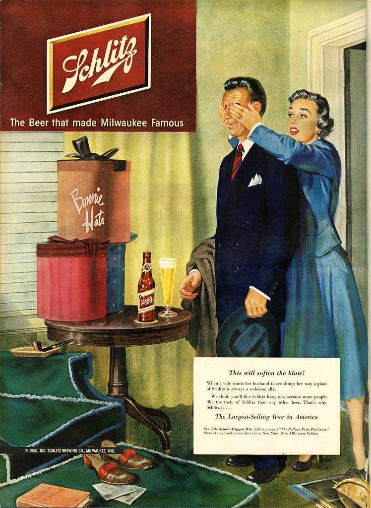 Schlitz-1951-soften-the-blow