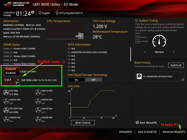 Noob need help with memory setup     3000mhz shows as 2133mhz