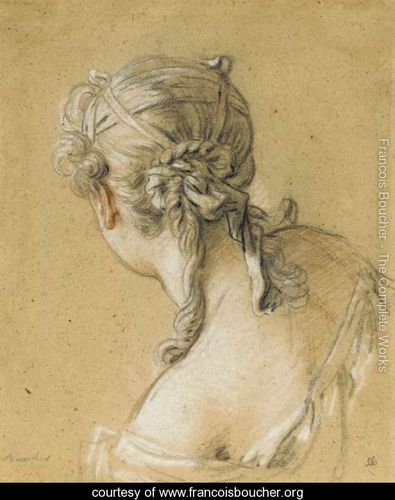Head-of-a-woman-seen-from-behind - François Boucher