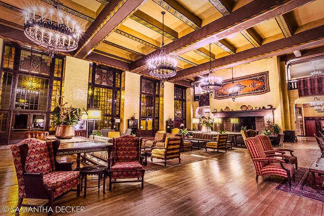 The Ahwahnee Great Lounge at Night