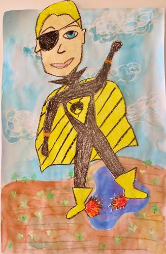Super Hero Self-Portraits