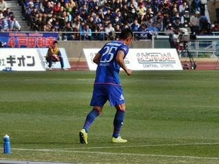 東京ヴェルディから期限移籍中の平本一樹選手。3月17日にJ2リーグ通算10,000ゴール目を挙げた。