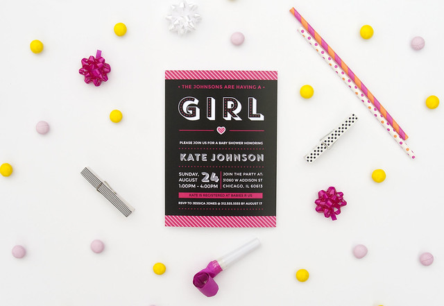 Baby Girl Shower Invitation