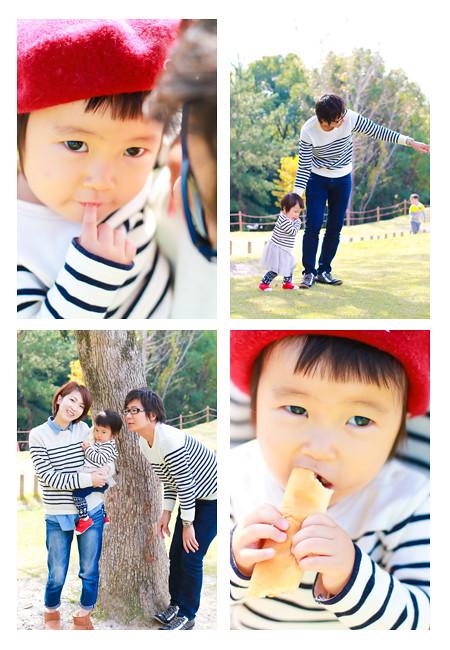 年賀状用 家族写真 ファミリーフォト ロケーション撮影 出張撮影 公園 モリコロパーク 愛知県長久手市