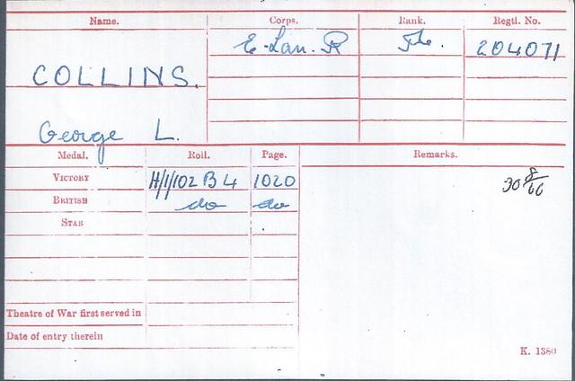 [9] GLCollins Medal Card