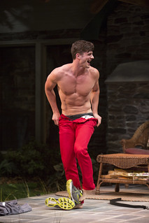 Tyler Lansing Weaks in Christopher Durang's smash-hit Broadway comedy Vanya and Sonia and Masha and Spike, directed by Jessica Stone, based on the Broadway direction of Nicholas Martin, playing January 2 – February 1, 2015 at the BU Theatre / Avenue of the Arts. Photo: Jim Cox