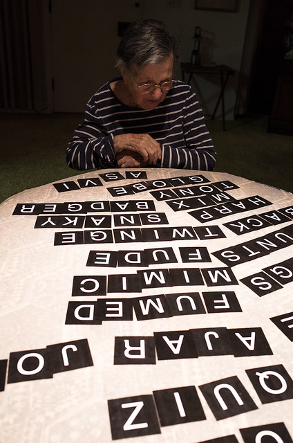 My mother plays anagrams