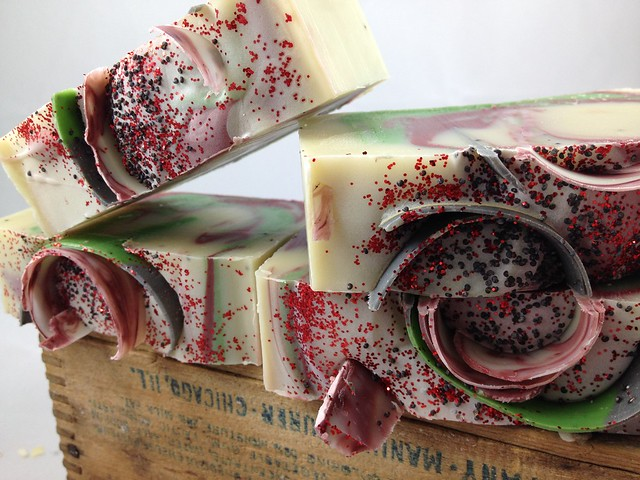 Christmas Wreath Soap by The Daily Scrub