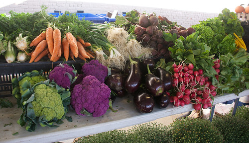 An array of colors is on display at local farmers markets with products like stunning purple Graffiti cauliflower. New varieties can add a new—and local—twist to traditional dishes on your Thanksgiving table. Photo courtesy Dan Bruell