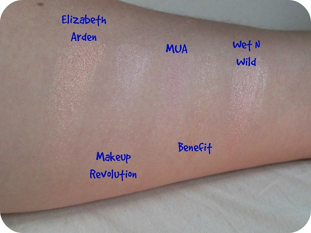 Five Most Used Highlighter Swatches