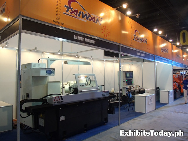 Palmary Machinery exhibit stand
