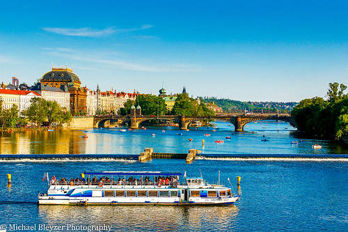 people beautiful river boats travels prague postcard pictureperfect