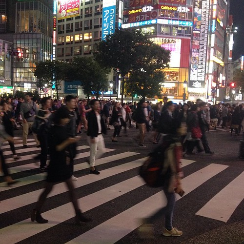 The intersection by Shibuya Station is one of the busiest in the world!
