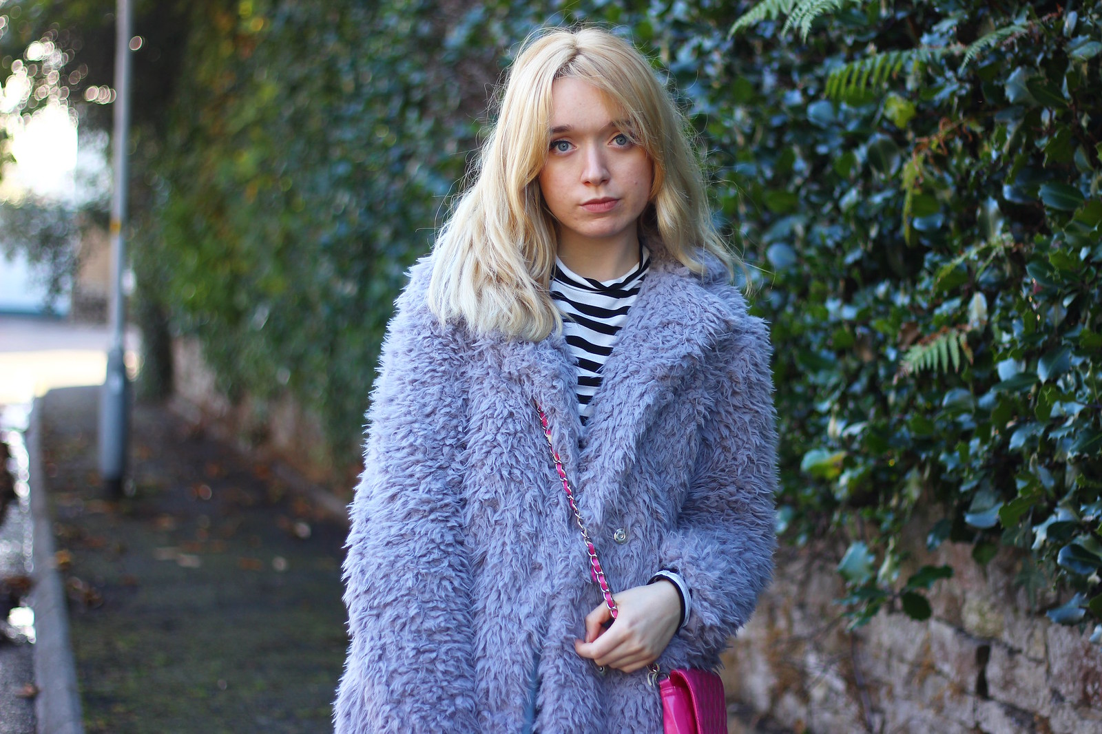 5lilaccoat, pastel outfit, fluffy coat
