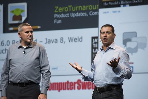 Georges Saab and Peter Utzschneider, JavaOne Strategy Keynote, JavaOne 2014 San Francisco