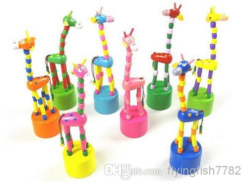 Colorful Giraffe Push Up Toys