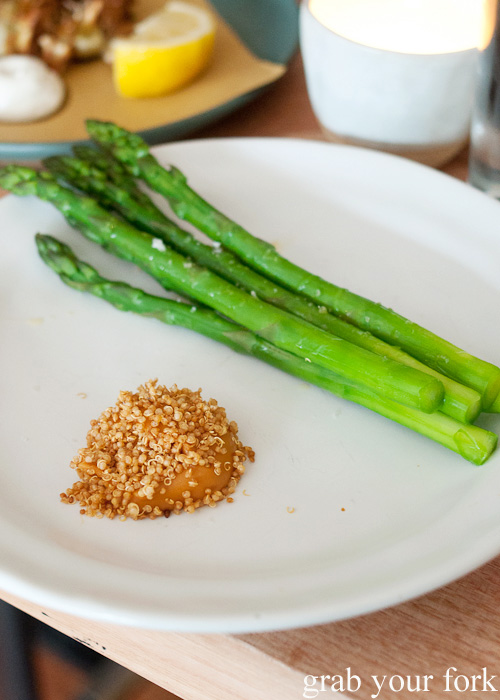 Asparagus and brown butter at ACME, Rushcutters Bay
