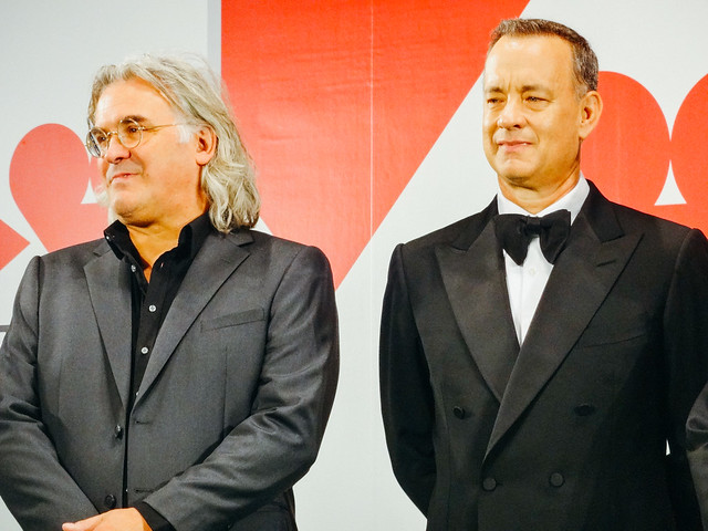 Photo:26th Tokyo International Film Festival: Paul Greengrass & Tom Hanks from Captain Phillips By Dick Thomas Johnson
