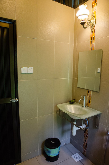 Clean and modern bathroom at Tanah Aina Farrah Soraya Eco Tourism Resort at Raub, Pahang