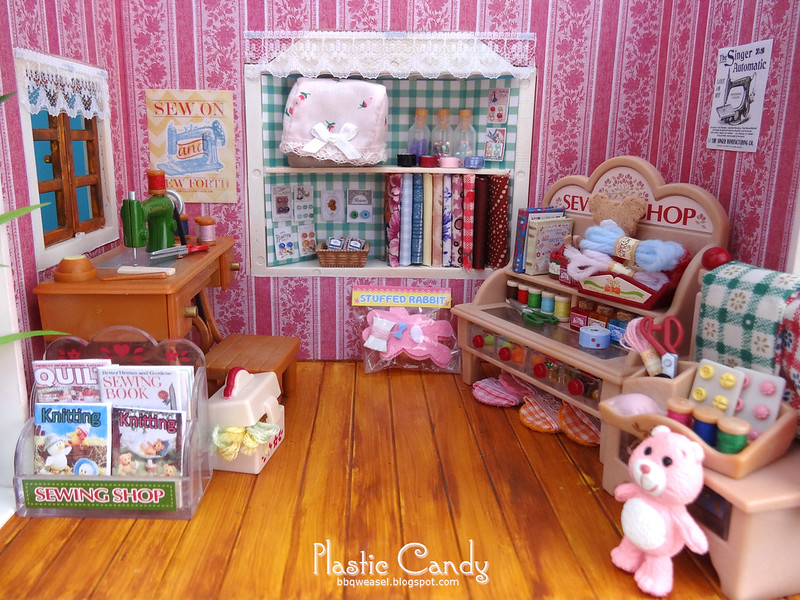 Sewing shop interior