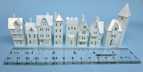 All Things Paper: Miniature Paper Houses Round Up