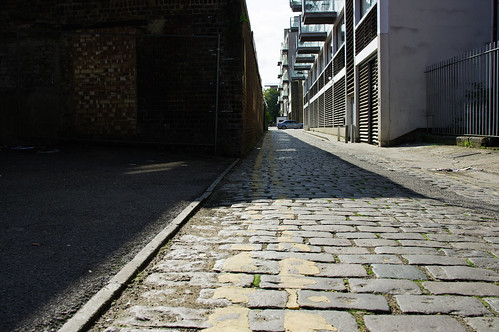 stone-paved alley