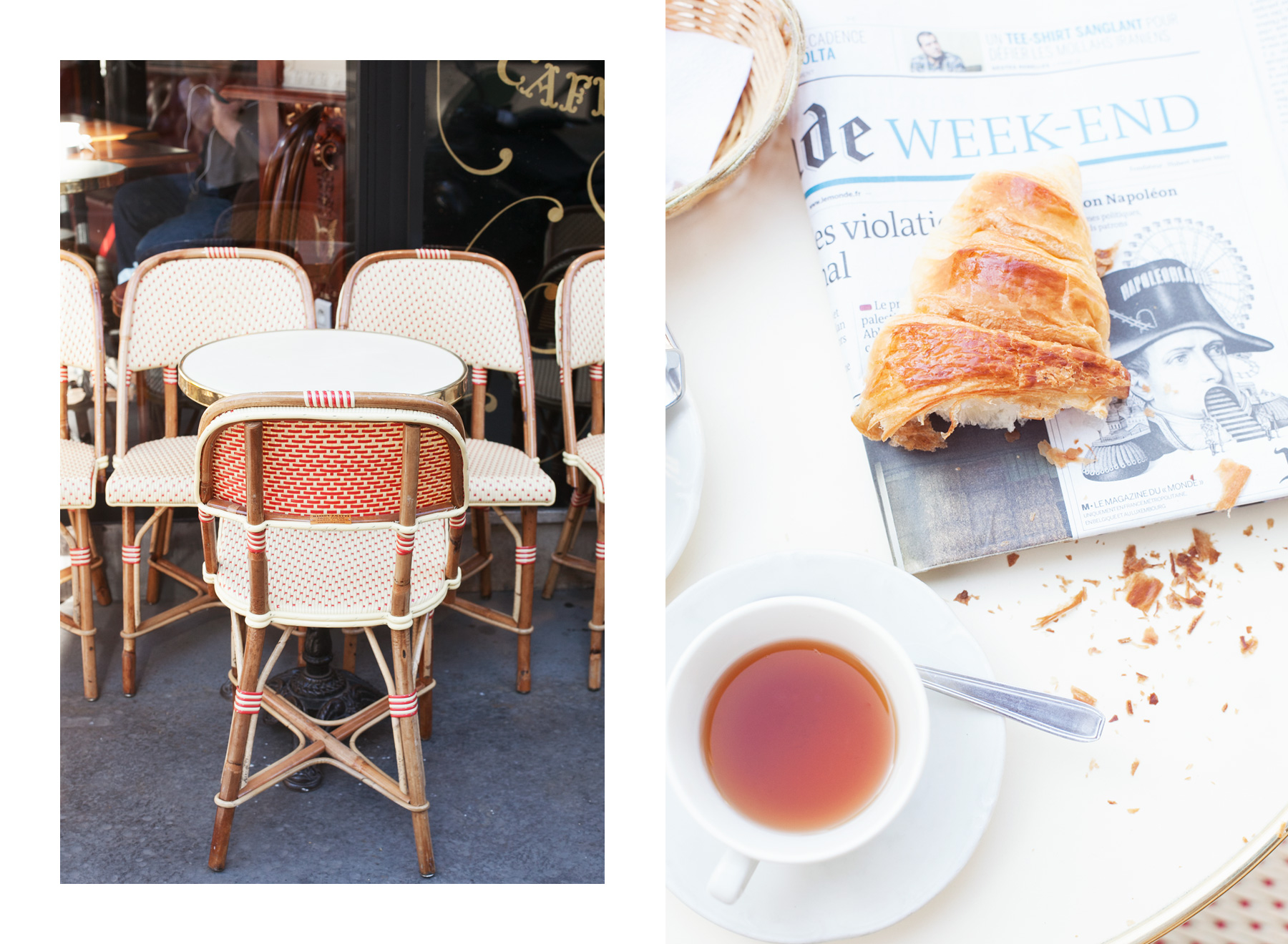 Parisian café by Carin Olsson (Paris in Four Months)