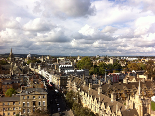 Oxford High Street, from Magdalen Tower.