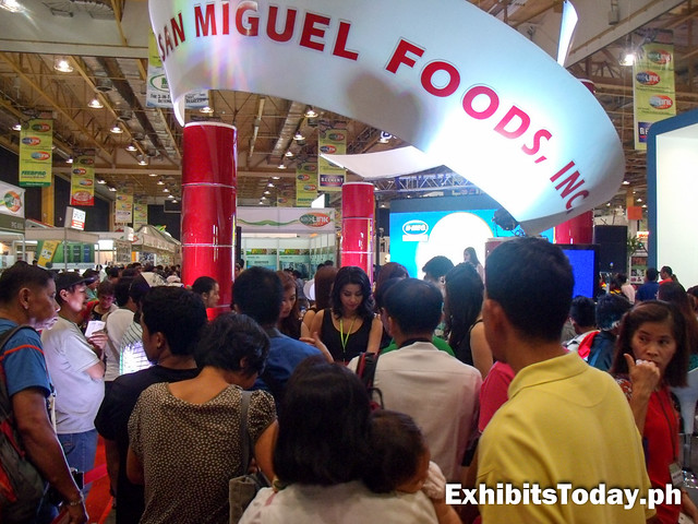 San Miguel Foods trade show booth
